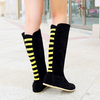 2014 Hot New Fall And Winter Warm Boots Fashion Wild Woman Boot Flat Knee High Boots