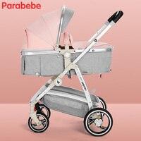 Высокая Пейзаж Детские коляски брендов Портативный коляска каретки большие колеса коляски для новорожденных розовые девушки малышей вело