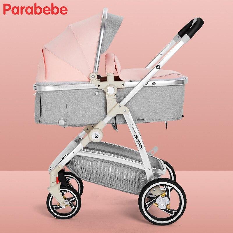 High Landscape Baby Strollers Brands Portable Pushchair Carriage Big Wheels Strollers For Newborns Pink Girls Toddler Bike Pram newborn strollers high lightweight pram dropshipping wholesale portable baby top stroller carriage strollers fashion pushchair