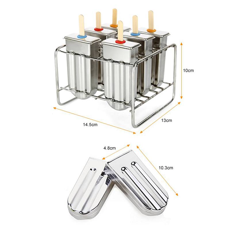 Image 2 - UPORS Stainless Steel Popsicle Mold Rack Ice Lolly Mold Frozen Lolly Popsicle Maker Homemade Ice Cream Mold with Popsicle Holder-in Ice Cream Makers from Home & Garden