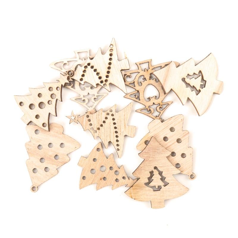 DIY Wholesale 10Pcs Gold Mix Christmas Pendants Charms Party Decor Ornament Set