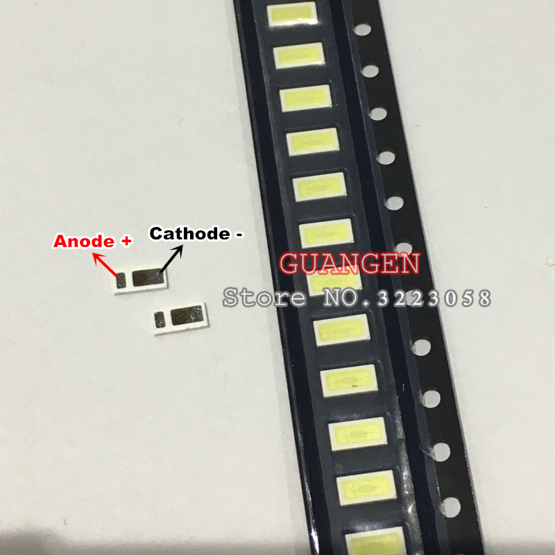 200pcs AOT LED Backlight 0.5W 3V 4020 48LM Cool white LCD Backlight for TV TV Application 4020C-W3C4