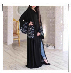 Hugcitar Suede Muslim Maxi Dress Cardigan Abaya Female Full Kimono Long Robe Gowns Jubah Middle East Ramadan Arab Islamic Prayer
