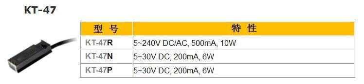 KT-47R capteur REED commutateur (LONG fil) AC DC 5-240 V
