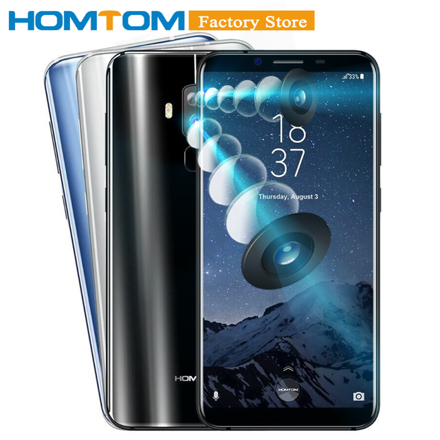 "HOMTOM S8 Smartphone 4G 5.7"" HD+ Screen 18:9 Ratio MTK6750T Octa Core 4GB 64GB 16.0MP+5.0MP Dual Rear 13.0MP Front Cam Cellphone"