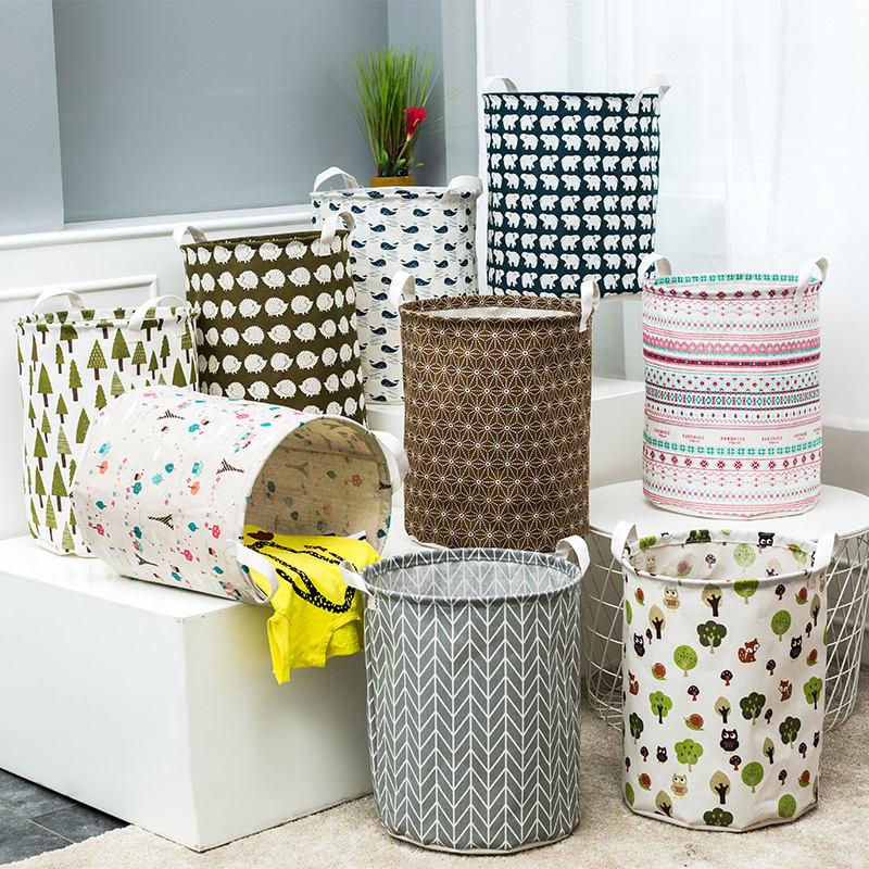 Clearance Sale - Big Laundry Basket Bag Bathroom Folding  Storage Large Foldable Bag Cloth Organizer Washing Dirty Clothe Basket