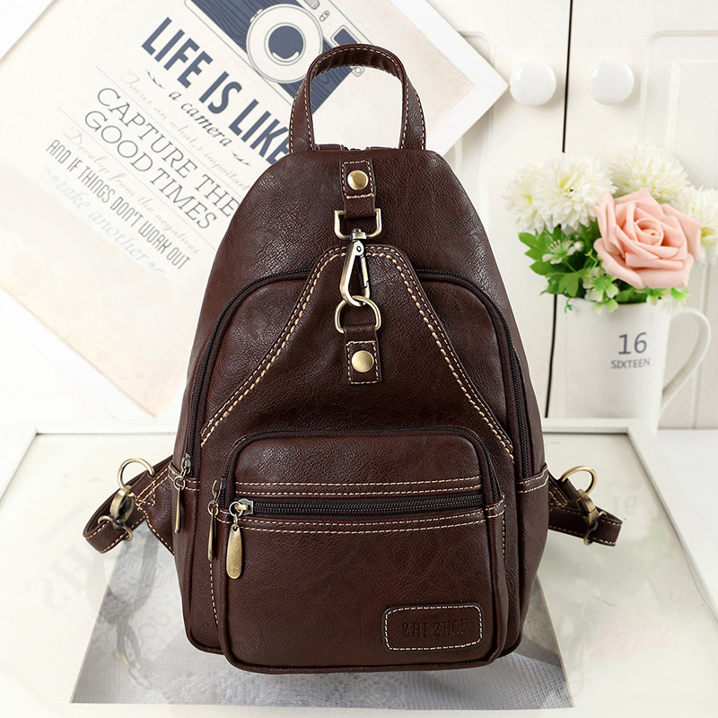 2016 New Fashion Style Women s Bagpack High Quality PU Leather Lovers Bags Special Designer Vintage