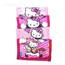 12pcs 11.5*7.5cm Pink red kitty cat Mini Coin Purse Money Bag Wallet Kid Birthday Party Supplies Decoration Party Favors(China)