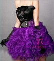 Cheap Adults Women Layers Pleated Ruffle Mini Skirt Sexy Purple Corset Rave Tutu Skirts For Stage Performance Party Club Wear