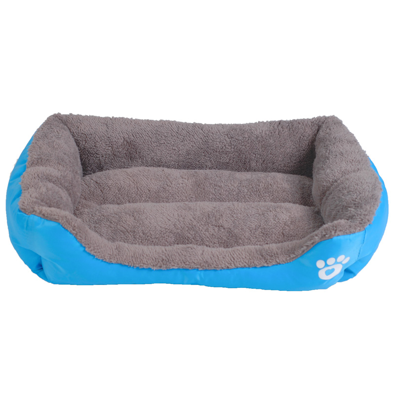 Well-liked Multi Color Pet Dog Bed Rectangle Oxford+PP Cotton Padded Puppy  LE76