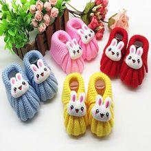 Nova doce sapatos de bebê primeiros caminhantes bonito bebê dos desenhos animados meninos de malha fio infantil da criança macio único bebê crianças sapatos