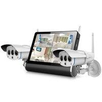 ONVIF сетевого видео сервера Комплект с 2 шт. Открытый IP Камера и 7 дюймов Сенсорный экран монитора для QUAD Дисплей Multi media Player