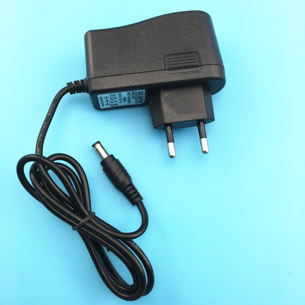 1PCS 5.5mm x 2.5mm EU Plug 5V1A AC 100V-220V Converter Adapter DC 5V 1A 1000mA Power Supply Charger