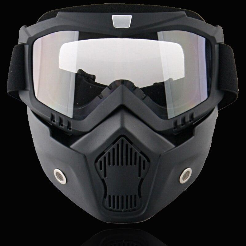 Nouveau Beon lunettes modulaires avec masque/bouclier visière lentille lunettes pour casque ouvert casque de moto/lunettes de motocross - 3