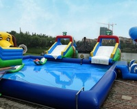 inflatable water slide playground Giant inflatable swimming pool amusement park