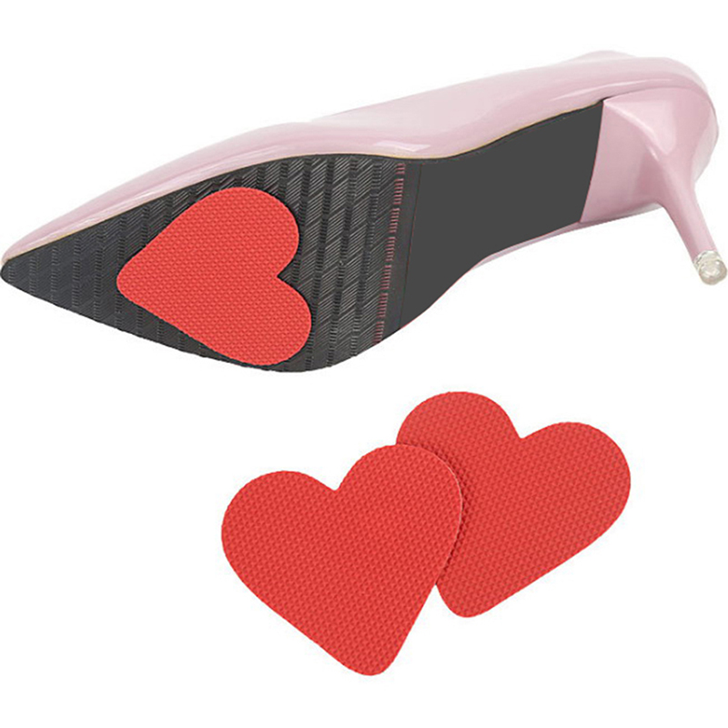 2PCS/Pair Heart Shape Non Slip Sticker Durable Vinyl Resin Self-Adhesive Anti Slip Sole Shoe Protector Pads Insoles Cushion HOT!