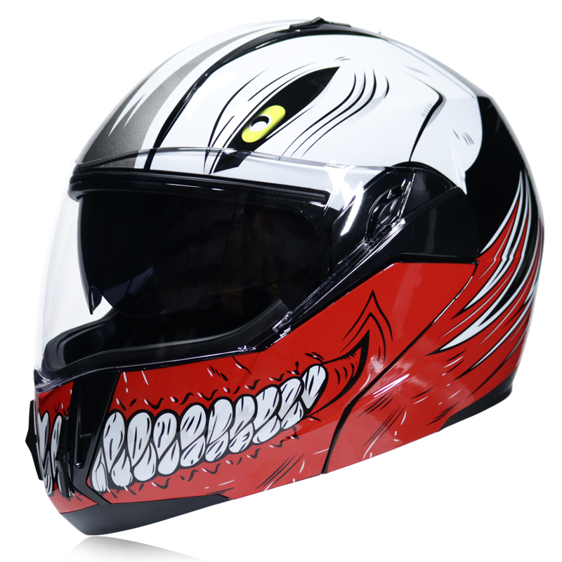 Molular Flip Up Motorcycle Helmet with Removable Inner Pads Sun Lens Full Face Racing Motorcross Capacete