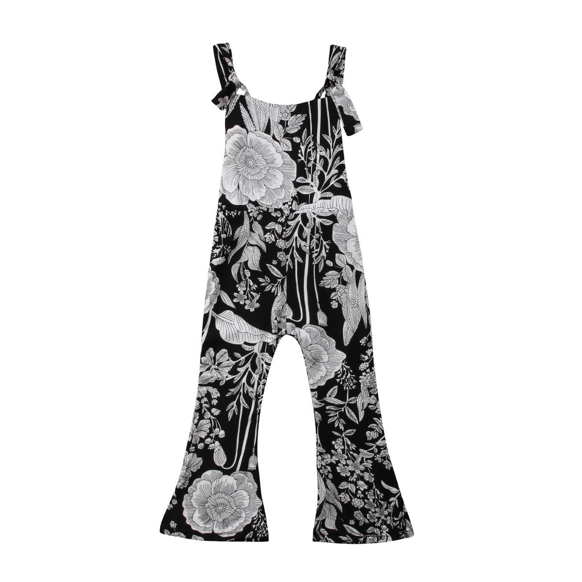 2-7 T Kinder Kind Baby Mädchen Floral Strampler Overalls Overall Hosen Lange Hosen Lose Casaul Insgesamt Sommer Kleidung