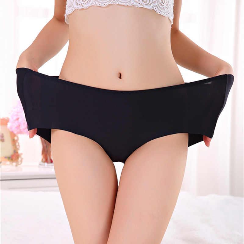 Mulus Wanita Celana Dalam Es Celana Sutra Keren dan Kawan-kawan Karib Celana Dalam Segitiga Ukuran 7XL Wanita Celana