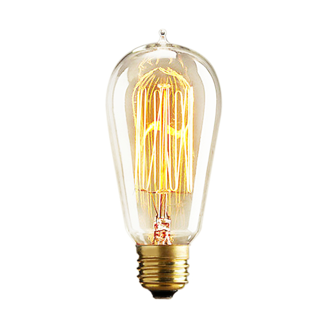 Retro Edison Bulbs E27 25W 40W 60W ST64 230V Incandescent Bulb Filament Vintage Light For Pendant Lamp Fot Cafe Shop