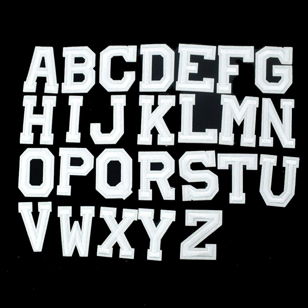 1 PC Inglês Letras Roupas Apliques Bordados de Ferro em Remendos Do Emblema Etiqueta para DIY Acessórios de Vestuário Vestuário Sew Craft