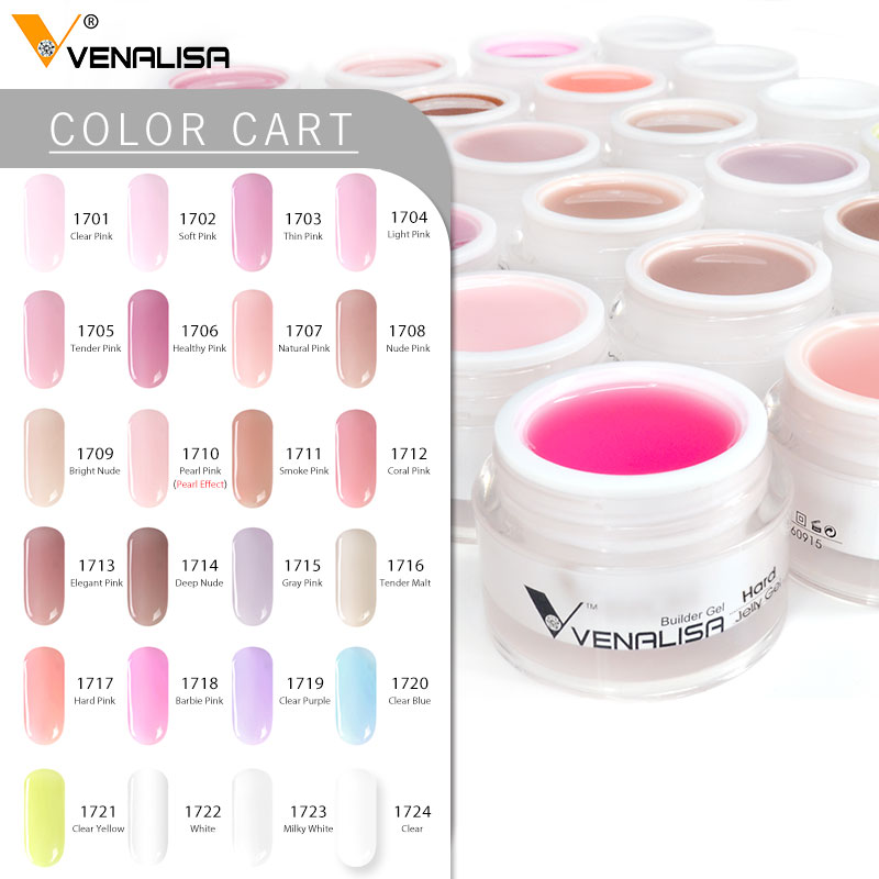 Image 3 - VENALISA 15ml Hard Jelly Gel 24 Camouflage Color CANNI Nail Art Manicure Quality Poly Gel Nail Builder Extending Hard UV LED Gel-in Nail Gel from Beauty & Health