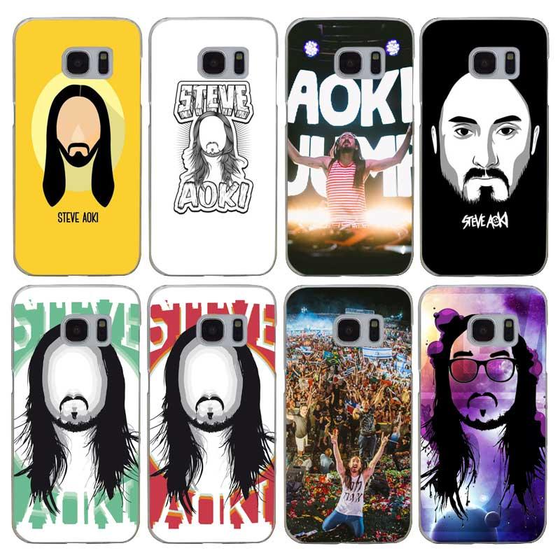 G284 Steve Aoki Transparent Hard PC Case Cover For Samsung Galaxy S 3 4 5 6 7 8 Mini Edge Plus Note 3 4 5 8