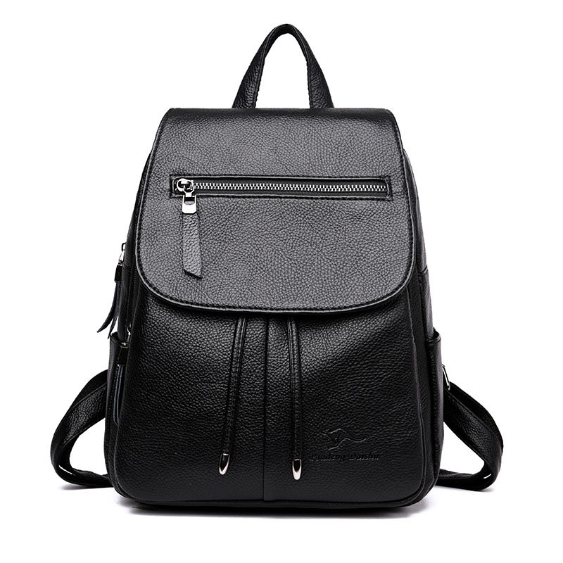 Women Backpack Casual Soft Leather Backpacks For Teenage Girls Female School Shoulder Bags Mochila Travel Back