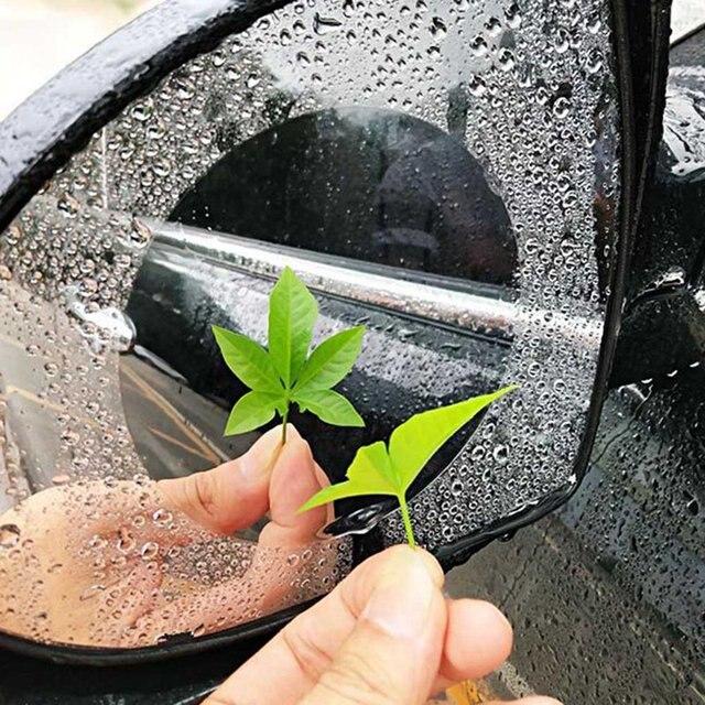 2Pcs/Pair Car Anti Water Mist Film Anti Fog Coating Rainproof Rearview Mirror Window Waterproof Protective Film Car Styling
