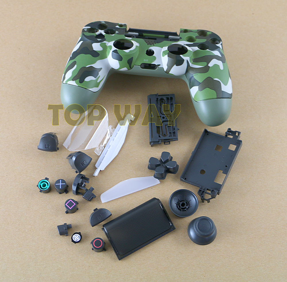 For Sony Playstation 4 PS4 Pro 4.0 JDS 040 Controller Gamepad Housing Shell Replace Case Cover Skin ChengChengDianWan