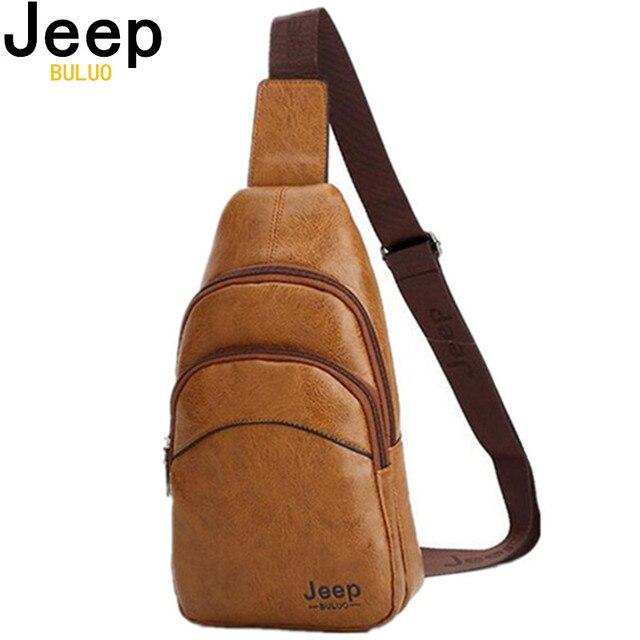 Saco Peito do homem Jipe Famosa Marca Sacos de Ombro Corssbody Para Jovens Moda Saco Do Mensageiro de Viagem De Couro Dos Homens Adolescentes Meninos 6912