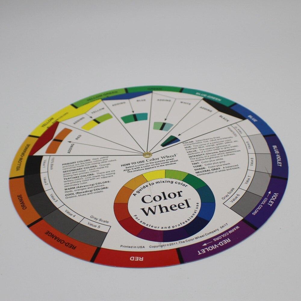 10 Pcs Lot Large Artist Colour Wheel Swatches Permanent Makeup Micro