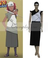 65% cotton+35% polyeste Japanese Anime Outfit Naruto Shippuuden Team Cloud Karui Cosplay Costume E001