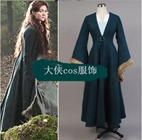 2017 Rights game Pro winter city lady lady Caitlin cosplay aristocratic dress windbreaker ink green suit Aristocratic clothes