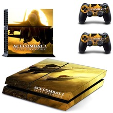 Ace Combat 7 Skies Unknown PS4 Skin Sticker Decal Vinyl for Playstation 4 Console and 2 Controllers PS4 Skin Stickers