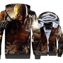 Batman Arkham Knight 3D Print Hoodie Men Beyond Sweatshirt Superman Coat Winter Thick Fleece Warm Jacket Cool Streetwear