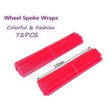 72 piezas 24 cm Off Road motocicleta rueda manga decorativa de alambre acero Multicolor decorativo carcasa acceso