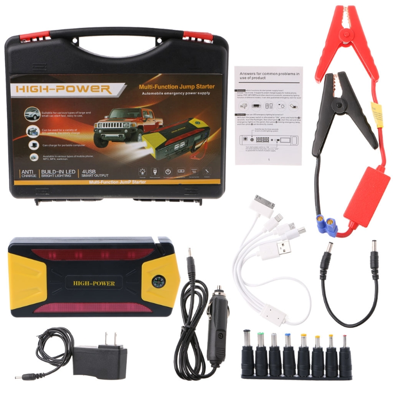 OOTDTY 1 Set US Plug  82800mAh Car Jump Starter Pack Portable Charger Booster Power Bank Battery SOS 12V 400A