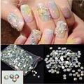 1000 pcs AB 14 Facetas de Cristal Strass Flatback Nail Art Studs Gems Dicas Adesivos Decorações DIY Manicure Ferramentas 4mm 8 Cor