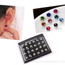 Non Piercing Clip on Magnetic Magnet Ear Stud