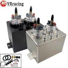 VR RACING-3L двойная Заготовка алюминиевый топливный бак/перенапряжения с 2 шт. 044 топливный насос серебристый или черный VR-TK84044
