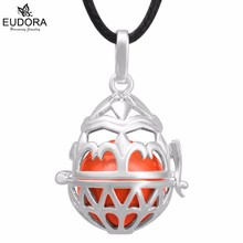 H219 New Style Locket Pendant Cage for 18mm chime ball Eudora Harmony Ball Necklace