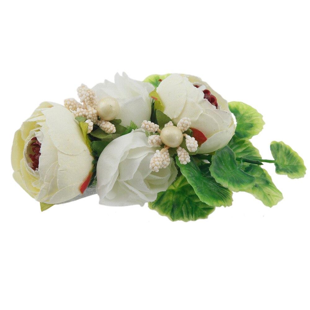 On Sale 1pcs Girl Rose Flower Hair Clips New Artificial Flower