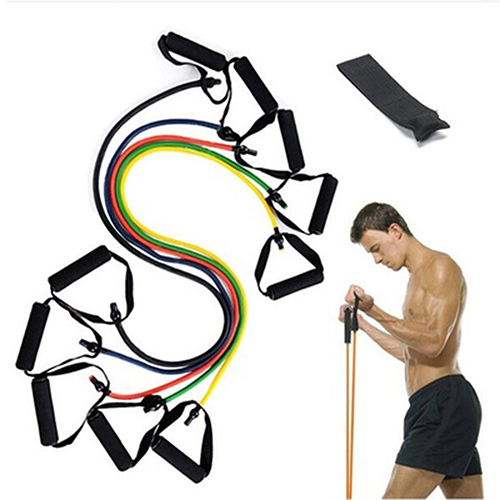 Yoga Resistance Training Bands Body Building Fitness Workout Exercise Equipment