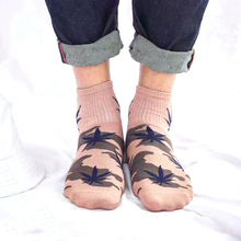 Cotton Leaf Printed Socks for Men