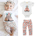 Fashion Ins Baby Girls Clothes Cute Tent Flower Romper Jumosuit Bebe Body Suit Diamond Leggings Harem Pants Spring Autumn Summer