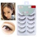 5 Pairs Makeup Handmade Natural Fashion Long False Eyelashes Extension Eyebrows Fake Eye Lashes Beauty cilios