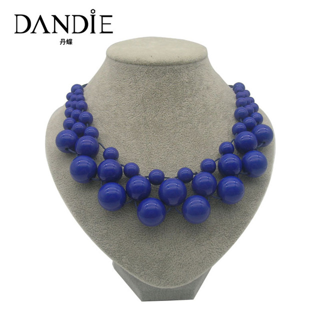 Dandie Colorful Acrylic Bead Necklace, Fashion Jewelry Bib Necklace For Women Je