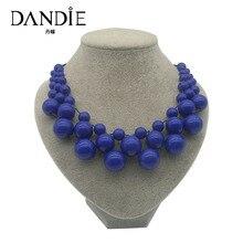 Dandie Colorful Acrylic Bead Necklace, Fashion Jewelry Bib Necklace For Women Jewelry