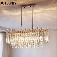 Crystal Chandelier Modern Rectangular Restaurant Lamp Creative Personality Bedroom Light LED Light